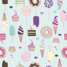 FOOD PATTERNS by Catalina Montaña, via Behance