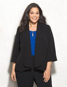 JONES STUDIO® Plus Size Open Front Blazer