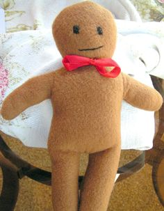 Baby's First Gingerbread Doll Small Easy To by NanasBabyStitches, $8.95