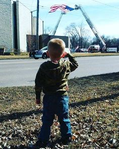 "586 Likes, 3 Comments - Uncle Sam's Misguided Children (@unclesamsmisguidedchildren) on Instagram: ""On February 16th this (One of ours) Three-year old Leiland Burg salutes fallen #firefighter Douglas…"""
