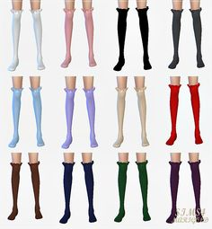 SIMS4 marigold: new frill socks_새로운 프릴 양말_여성 양말