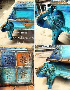 Bermuda Blending technique for painting furniture