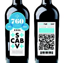 Wine is always an inspiration.  Big QR code.