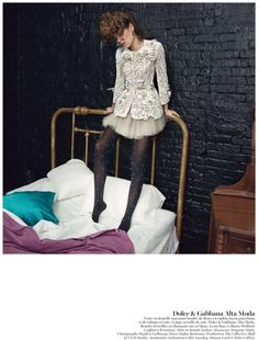 Freja Beha Erichsen is Ravishing in Couture for Vogue Paris May 2013 by Inez & Vinoodh