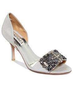 a93bc54f97e Badgley Mischka Aaliyah Evening Pumps   Reviews - Shoes - Macy s