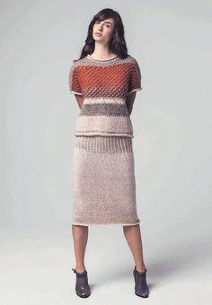 Lana Grossa KURZPULLOVER Tiffany/Pashmina/Garzato Nuovo/Silkhair/Alta Moda Alpaca - DIE MASCHE 2014 Folder - Modell 4 | FILATI.cc WebShop