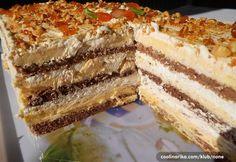 torte i kolači, torta, egipatska torta, kremaste torte, recepti Easy Cake Recipes, Baking Recipes, Dessert Recipes, Torte Recepti, Torte Cake, Food Cakes, No Bake Cake, Amazing Cakes, Good Food