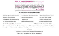 What's in it for you? Here's 15 good reasons to get started with Avon today!