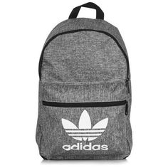 Grey Backpack by Adidas Originals ($31) ❤ liked on Polyvore featuring bags, backpacks, gray bag, logo bags, adidas, adidas bag and logo backpacks