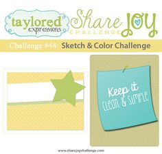 Share Joy Challenge: Share Joy Challenge 44: Sketch & Clean and Simple