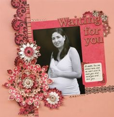 expecting - scrapbook page