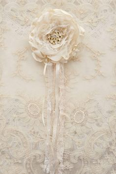 Cream Satin and Tulle Gillyflower Handmade by by Jenneliserose