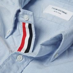 Thom Browne oxford w/ signature grosgrain