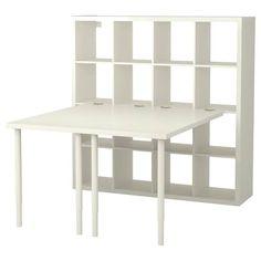 Look what I've found at IKEA - kallax shelf unit Ikea Kallax Desk, Kallax Shelving Unit, Hack Ikea, Ikea Linnmon, Corner Workstation, Ikea Regal, Kallax Regal, Foldable Table, Ikea Family
