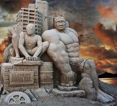 Sculpture de sable by Rebecca Danieli
