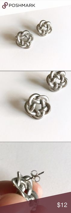 NWOT! Silver braided earring Never worn! Jewelry Earrings
