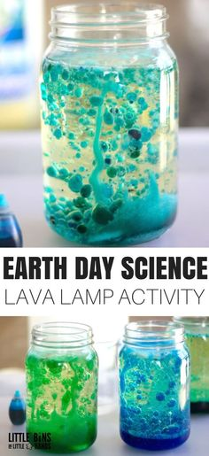 This simple to set up but amazingly fun Earth Day science activity is perfect for kids of all ages to explore! Try kitchen science with a homemade lava lamp that explores liquid density and a cool chemical reaction. Simple science for the win!