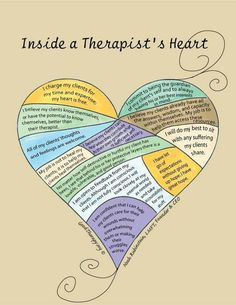 A Therapist's Heart - I want to be a therapist one day :)