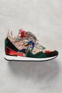 Rio Sneakers by Elena Iachi #Anthrofave #anthropologie
