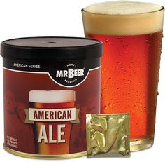 Beer American Ale 2 Gallon Homebrewing Craft Beer Refill Kit: American Ale-Rich golden color, light toasty malt character with a citrusy hop aroma and crisp bitterness. Malt Beer, Mahogany Color, Dark Mahogany, Brewing Recipes, American Series, Home Brewing Beer, How To Make Beer, Wine Making, Bars For Home