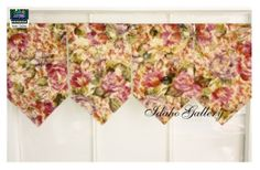 Floral Banner Valance Select Width for Your Window by Idaho Gallery