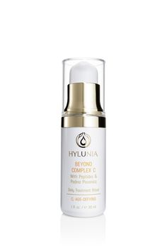 Beyond Complex C		 A breakthrough formula that minimizes wrinkles up to 25% within 12 days. This proven serum uses a unique encapsulation technology, allowing greater absorption of Vitamin C. Skin is softer and smoother with noticeable improvement in tone and texture. Minimizes inflammation and reduces redness.  #hylunia #vitaminc #natural