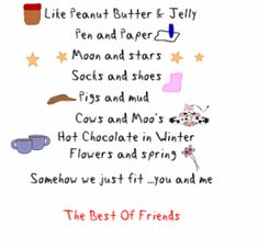 Funny poems for best friends birthday