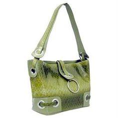 Dasein Women S Snake Skin Embossed Leather Like Hobo Bag Handbag Purse Green Bags