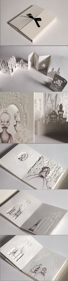 Hiroko Matshushita的剪纸书作品 https://www.behance.net/hirokomatsushita