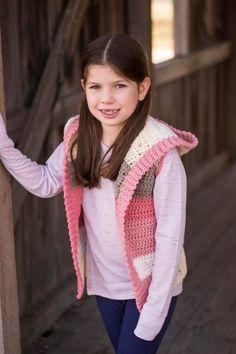 Child Hooded Vest Crochet Pattern - Crochet It Creations Crochet Boys Sweater Pattern Free, Crochet For Boys, Crochet Baby, Crochet Patterns, Front Post Double Crochet, Half Double Crochet, Basic Crochet Stitches, Crochet Basics, Sewing Pockets