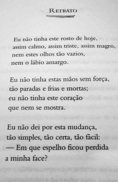RETRATO - Cecília Meireles