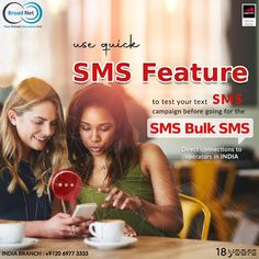 Use quick SMS Feature to test your Text SMS Campaign before going for the SMS Bulk SMS Direct Connection to Operators in India India: +9120 6977 3333 #marketing #smsmarketing #india #integration #digitalmarketing #broadnettechnologies #broadnet