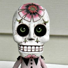 Day of the Dead Sugar Skull Doll Sculpture-