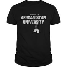 Get yours beautiful I Attended Afghanistan University NEW GIFT Shirts & Hoodies.  #gift, #idea, #photo, #image, #hoodie, #shirt, #christmas