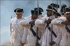 Black soldiers fought with the Continentals as well as the British. (Pictured: A re-enactment).
