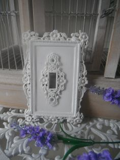 Scrolly Ornate Single Lightswitch Cover Shabby Chic By Shabbyroad 14 00 Switch Plate Covers Light