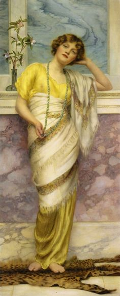 The Turquoise Necklace  William Clarke Wontner