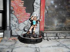 CUSTOM Heroclix LARA CROFT Figure Miniature Pro Painted TOMB RAIDER Female