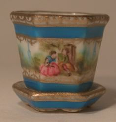 Romantic Limoges Flower Pot Small by Christopher Whitford miniature