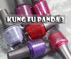 A review of the Morgan Taylor Kung Fu Panda 3 nail polish collection, featuring swatches and comparisons of the colors created for the new character, Mei Mei.