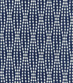 Eye catching dots. Perfect for mix and match applications, easily complement any design theme you have at home.  Content: 70% Cotton, 30% Polyester Width: 54 Inches Fabric Type: Print Upholstery Grade