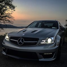 Sunset cruising with the C63 AMG. Photo shot by @_lakeshow_.   #MercedesBenz #mbcar #MercedesAMG #C63AMG #AMG #CClass #Edition507 #sunshine