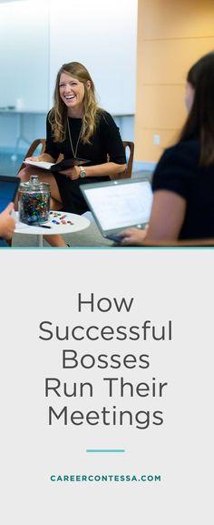 How successful bosses run their meetings