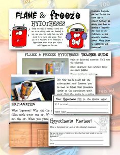 FUN AND EXCITING LAB! Dramatic experiment reinforces lab safety and teaches how to correctly write a hypothesis. This activity will have your students talking about how awesome your class is! Only basic and simple supplies needed (Aluminum can, ice water, very hot water). Lesson includes full teacher guide, student lab sheet perfect for interactive notebooks, additional web resources, and a worksheet perfect for homework or classwork. $