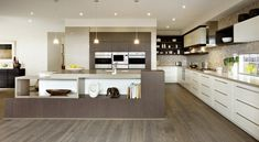 Carlisle homes pale brown bench with white cabinetry Kitchen Worktop, Kitchen Dining, Nice Kitchen, Kitchen Ideas, Carlisle Homes, Kitchen Colour Schemes, Victoria, Dream Home Design, House Design