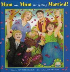 Children's books depicting diverse families.