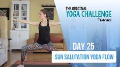 Original Yoga Challenge: Day 25 - Sun Salutation Yoga Flow (Intermediate) - YouTube
