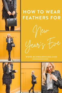 New Years Eve is just around the corner! Today I'm going to share with your some simple steps on how to style a glamorous look for NYE wearing feathers! You're sure to be the belle of the ball with these tips! #featheredskirt #newyearseve #howtowear