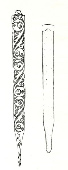 Bronze scabbard of La Tène type recovered from Toome area.