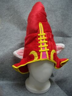 New League of Legends LOL LuLu Anime Hat Rave Beanie Cap Furry Plush Cosplay Red